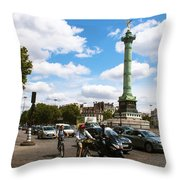 Bastille Throw Pillow by Milan Mirkovic