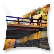 Bastion Falls Bridge 1 Throw Pillow