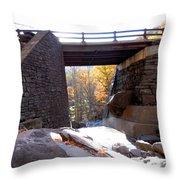 Bastion Falls Bridge 2 Throw Pillow