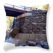 Bastion Falls Bridge 3 Throw Pillow