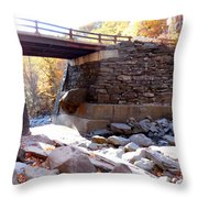Bastion Falls Bridge 4 Throw Pillow