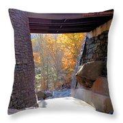 Bastion Falls Bridge 7 Throw Pillow