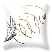 Bat Bio Sonar Throw Pillow