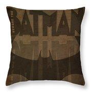 Bat Brown  Throw Pillow