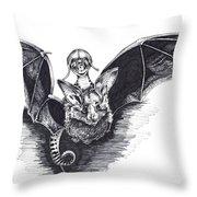 Bat Mobile Throw Pillow