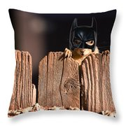 Bat Squirrel  The Cape Crusader Known For Putting Away Nuts.  Throw Pillow
