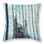 Bat Tower Reflected Throw Pillow