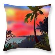 Echo Beach, Bali Throw Pillow