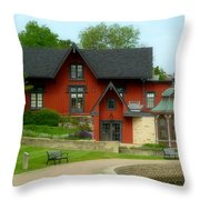 Batavia Depot Throw Pillow