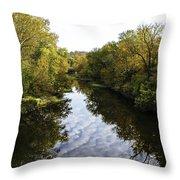 Batavia, Ohio Creek Vertical Throw Pillow