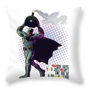 Batfleck And The Bomb 2 Throw Pillow