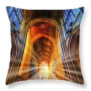 Bath Abbey Sun Rays Throw Pillow