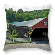 Bath Bridge Throw Pillow