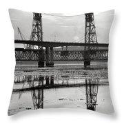 Bath Bridges In Winter Throw Pillow