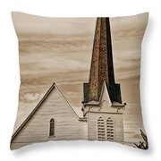 Bath Congregational Church Throw Pillow
