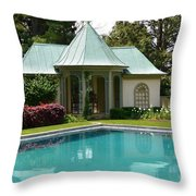 Chanticleer Bath House A Throw Pillow