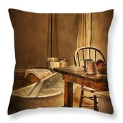 Bath Night At Fort Verde Throw Pillow