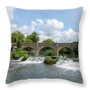 Bathampton Bridge Throw Pillow