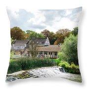 Bathampton Mill Throw Pillow