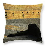 Bathed In Golden Light Throw Pillow