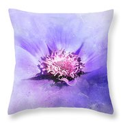Bathed In Purple Throw Pillow