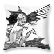 Bathed In White Light Throw Pillow