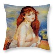 Bather 1887 Throw Pillow