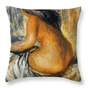 Bather From The Back Throw Pillow
