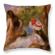 Bathers 1894 Throw Pillow