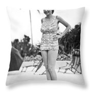 Bathing Suit Made Of Currency Throw Pillow