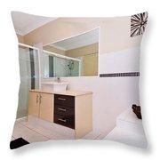 Bathroom And Bath Throw Pillow