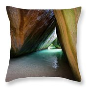 Baths At Virgin Gorda Throw Pillow
