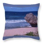 Bathsheba Beach Barbados Throw Pillow