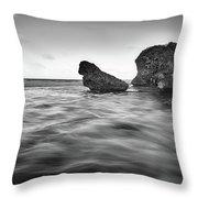 Bathsheba Flow Bw Throw Pillow