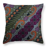 Batik Art Pattern Throw Pillow