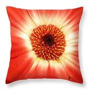 Batik Of A Gerbera Throw Pillow