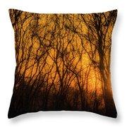 Batik Sunset Throw Pillow