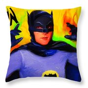 Batman, Adam West Throw Pillow
