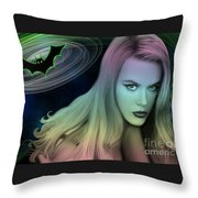 Batman And Nicole #0070 Throw Pillow