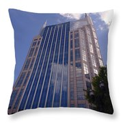 Batman Building In Down Town Nashville Throw Pillow