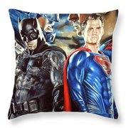 Batman V Superman Throw Pillow