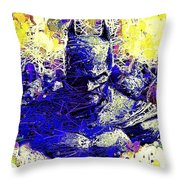 Batman 2 Throw Pillow by Al Matra