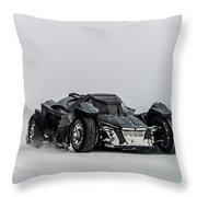 Batmobile Snowtour Throw Pillow