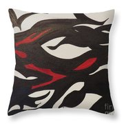 Bats And Eyes Throw Pillow