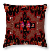 Bats In The Dark Throw Pillow