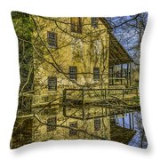 Batsto Gristmill Reflection Throw Pillow