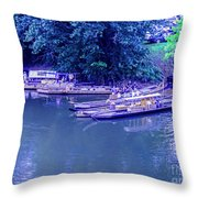 Batteaux At Cartersville Landing 1095t Throw Pillow
