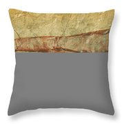 Battered Old Trumpet Throw Pillow