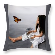 Batterfly Throw Pillow