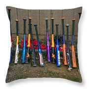 Batter's Choice Throw Pillow